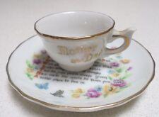 Mother and Dad miniature tea cup and saucer Tea Cup 3cm H tiny small cup saucer
