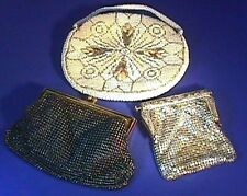 Vintage 3 PC Purse Lot, Sequined Beaded Whiting & Davis, Czechoslovakia & More