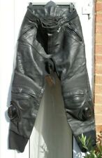 BERING XXL Leather Motorcycle Trousers Inside Leg 30 inches (approx.)