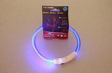 LED Dog Necklace Collar, USB Rechargeable Safety Waterproof Light up Adjustable