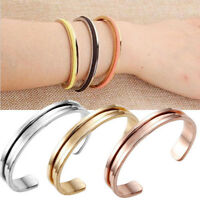 Cuff Bangle Stainless Steel Hair Tie Bracelet for Women Band Elegant Indent New