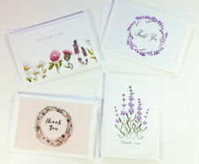 4 Thank You Cards Notes Flower Wedding Business Birthday Thankful AT THANK60