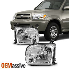 For 2005 2006 2007 Sequoia Tundra Headlights Lights Lamps Left+Right 05 06 07