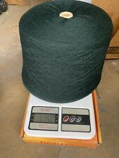 blend with 70% lambswool 20% angora & 10% nylon yarn cone color in dark green #2