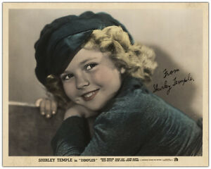 SHIRLEY TEMPLE 1935 Child Movie Star Phenomenon 8x10 Photo Autograph Reprint