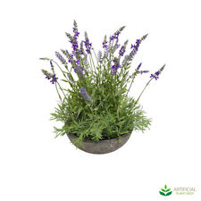 Artificial Fake Plants Lavender Plant in Pot 50cm