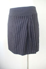 Above Knee A-Line Machine Washable Striped Skirts for Women