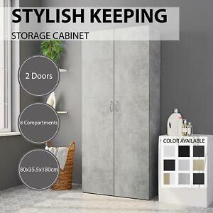 vidaXL Storage Cabinet Chipboard 2 Doors 8 Compartments Unit Multi Colours