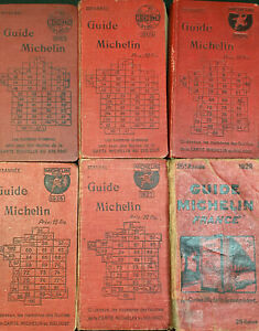 guides michelin 1920   1922-1924-1925-1925-1927-1929