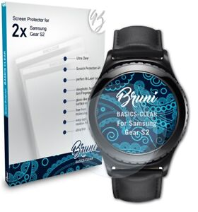 Bruni 2x Protective Film for Samsung Gear S2 Screen Protector Screen Protection