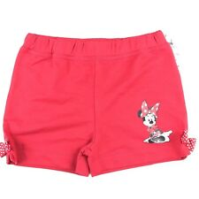 Disney Parks Toddler Girls Minnie Mouse Shorts Sz 3T Red Elastic Waist Bows