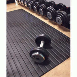 Rubber Free weight mats 180cm x 120cm x 12mm or 17mm Gym Mat SOLID Cannons UK