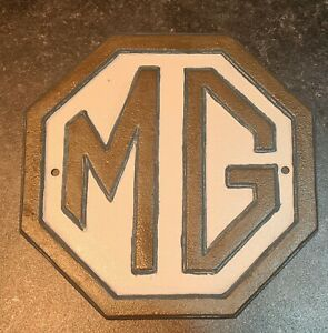 MG Cars Cast Iron Sign | Automobile Metal Vintage Wall Plaque