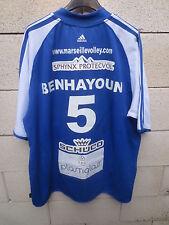 Maillot MARSEILLE VOLLEY porté BENHAYOUN n°5 dédicacé ADIDAS shirt camiseta 8
