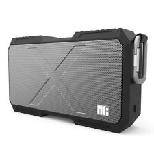 Waterproof Portable Wireless Bluetooth Stereo Speaker with Powerbank - Black