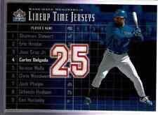MLB 2002 UPPERDECK LINEUP TIME JERSEYS CARLOS DELGADO  GAME WORN JERSEY