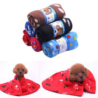 Pet Blanket Dog Cat Double Sided Warm Soft Blankets Sleep Mat Pad Bed Cover Paw
