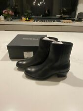 Country Road Black Leather Maxie Boots - Size 39 - Brand New
