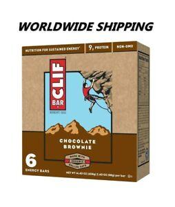 Clif Bar Chocolate Brownie Energy Granola Bars 6 Ct WORLDWIDE SHIPPING