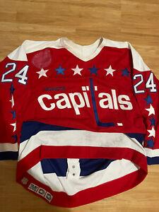 1992-93 CCM Authentic Game Used Jeff Greenlaw Washington Capitals Hockey Jersey
