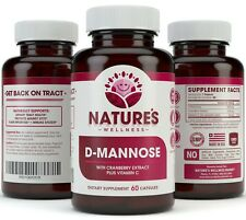 D-MANNOSE w/ Cranberry Extract - Urinary Tract Health - Flush Impurities