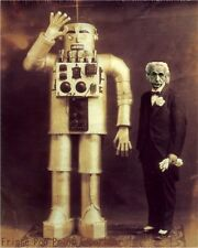 Albert Einstein Robot Art Print 8 x 10 - Victorian Steampunk Altered Art Science