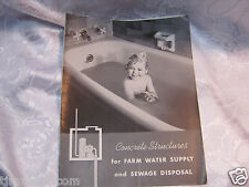 Concrete Structures for Farm water & sewage vintage  farming 19 pages