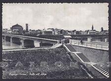 VERONA LEGNAGO 10 PONTE - fiume ADIGE Cartolina viaggiata 1963