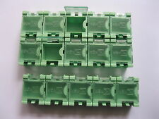 10 pcs Green Mini Storage Box SMD SMT for Electronic Component Use
