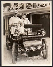 early auto 1898 DE DION BOUTON opera singer JAMES MELTON 1940 Orig Press Photo