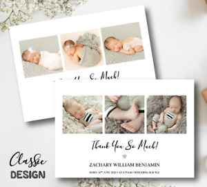 10 Personalised Baby Thank You Cards • Photo Thank You Cards • Christening Birth