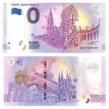 0-Euro Schein 2018 Vatikan Papst John Paul II Unc. / 8419547##