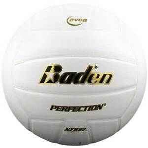 Baden Perfection Volleyball White Competition Indoor Play NFHS NCAA Leather