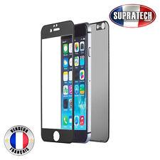 Protection Verre Trempé Face Avant + Arrière Titane Noir pour iPhone 7 Plus