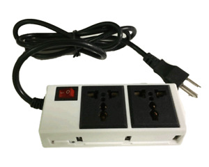 3-Port USB Charging Station with 2-Power AC Outlets for Macbooks, iPads, iPhones