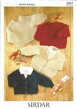 Snuggly Cardigans & Sweaters Double Knitting Patterns Kids Sirdar #3957 0-6 yrs