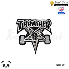 Thrasher Skate Board Logo Embroidered Iron On Sew On PatchBadge For Clothes etc