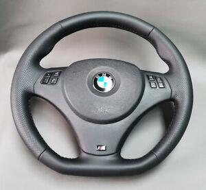 BMW steering wheel  M3 E91 E92 E93 E81 E82 E90 E87  NEW LEATHER  flat bottom