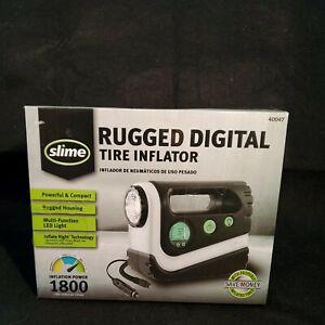 Slime RUGGED DIGITAL TIRE INFLATOR / COMPRESSOR • LED LIGHT • POWERFUL COMPACT