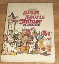 GREAT SPORTS HUMOR~FUNNIEST STORIES EVER TOLD by MAC DAVIS 1973 114 PGS HC