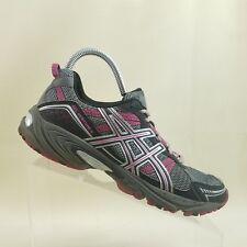 ASICS Women Gel Venture 4 Grey Magenta Trail Running Shoes SZ US 9 EU 40.5 #F89
