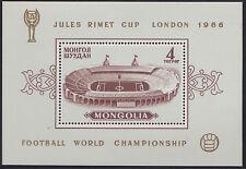 MONGOLIE BLOC N°11** Bf Football Londres, TB 1966 MONGOLIA Soccer SHEET MNH