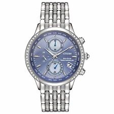 Citizen Eco-Drive Women's FC5000-51L World Chronograph A-T Blue Dial Watch
