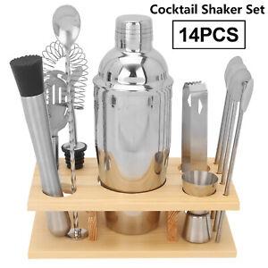 14 Pcs/Set Cocktail Shaker Bar Set Mixer Making Kit Bartender Stainless Steel