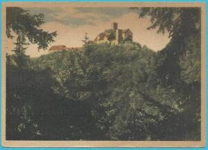 """Ortspostkarte """"Die Wartburg bei Eisenach"""", portorichtig frankiert!"""