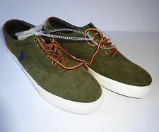 NEW POLO RALPH LAUREN Mens VAUGHN Fashion Sneakers Green Corduroy 7.5 D (M)