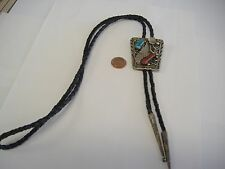 Turquoise/ Red Coral Bolo Selling Vintage Native American