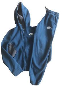 Boys Nike Tracksuit  Age 10-12 teal green Zip Up Hoodie Tracksuit 2 Piece Used