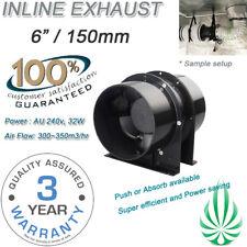 "6""/150mm Axial 300m3/hr 30W Silent Vent Fan Fo Hydroponics Grow Tent Grow Lights"