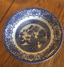 OLD WILLOW --WASHINGTON POTTERY -- Staffordshire ENGLAND -- Dinner Bowl